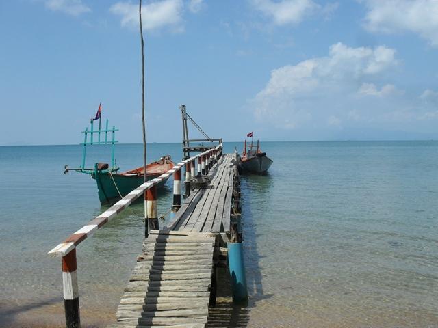 うさぎ島のボート乗り場