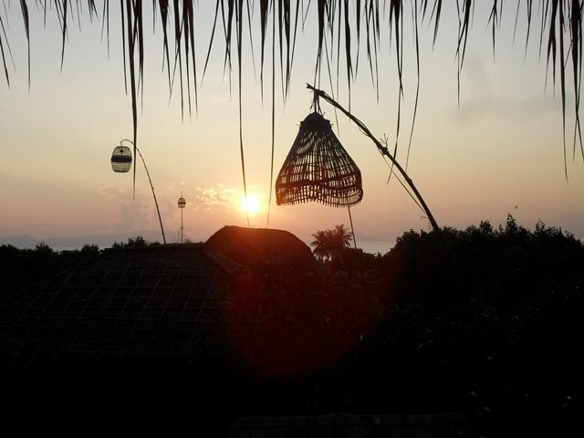 ケップ・バンガローからの夕日
