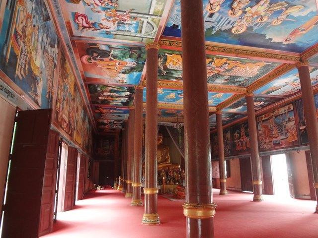 キリングフィールド寺院の中の壁画