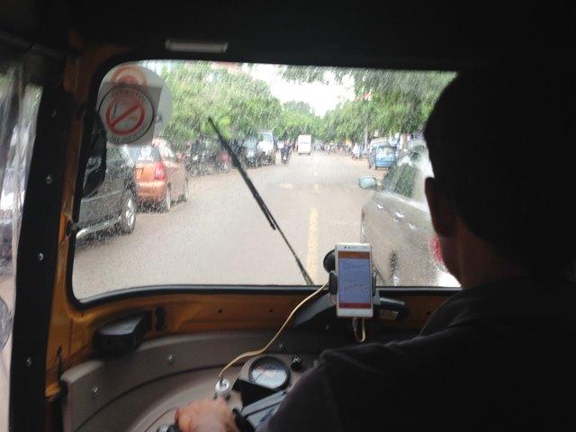 PassAppのトゥクトゥク乗車中