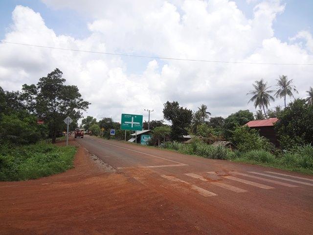 スラヨン村のバスから降りた場所