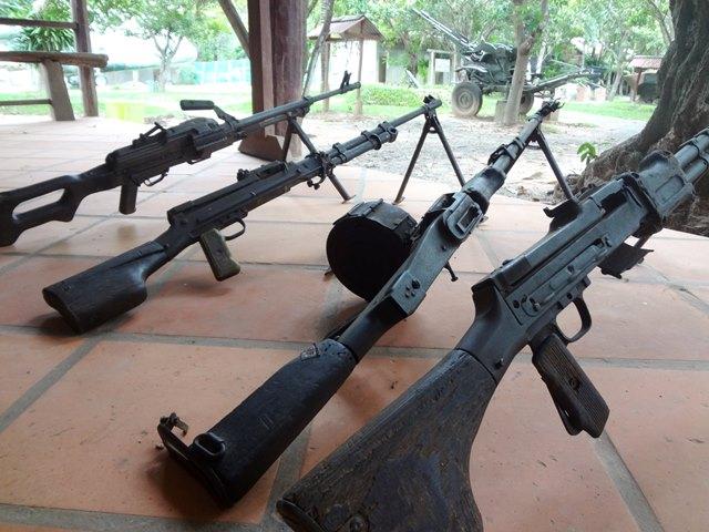展示品の銃・鉄砲
