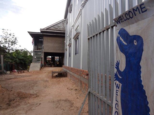 シェムリアップのローカル・クロコダイルファームの入り口