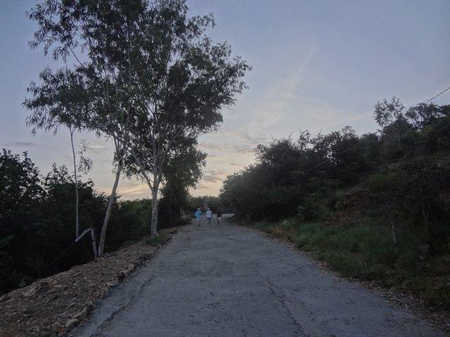 プノンクロム山頂へ向かう山道