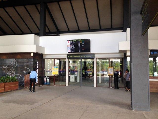 シェムリアップ国際空港の出発ゲート