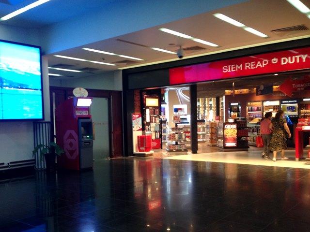 シェムリアップ空港の免税店