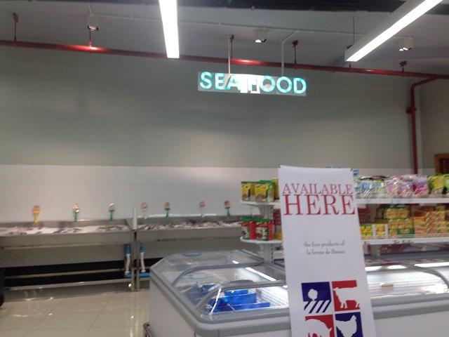 新アンコールマーケットの生鮮食品コーナー