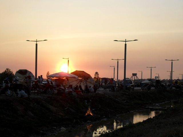 キョンギュウから見える夕日