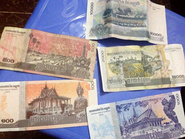 カンボジアの通貨リエルのお札の裏面