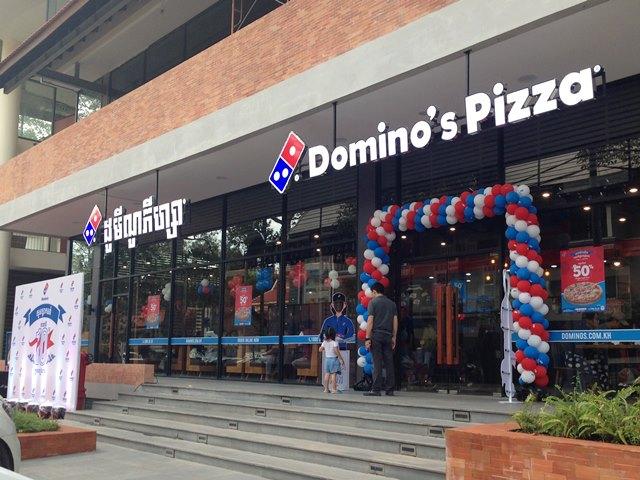 シェムリアップの「Domino's Pizza」