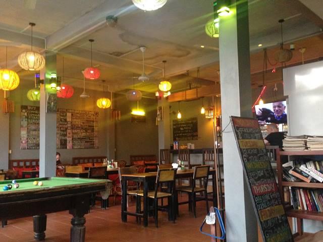 パブホステルのレストラン