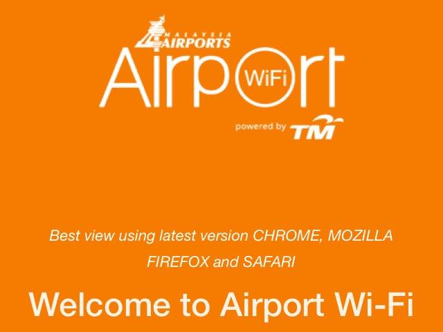 クアラルンプール空港にあった無料wifi