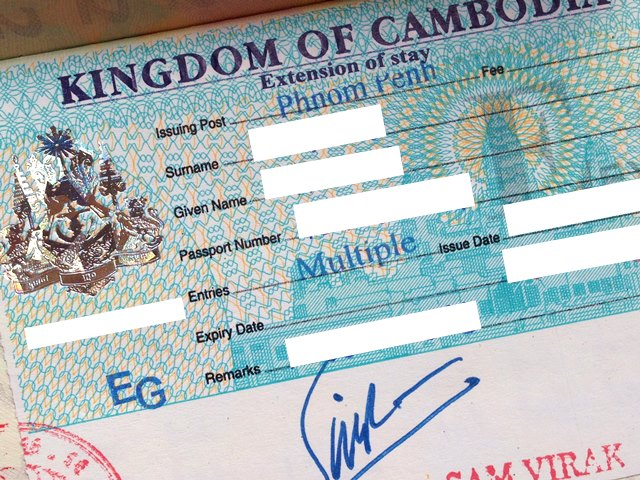 カンボジアで延長した求職ビザ