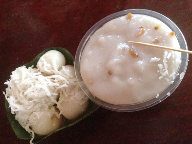 カンボジアのローカルフード「白玉とココナッツゼリー」