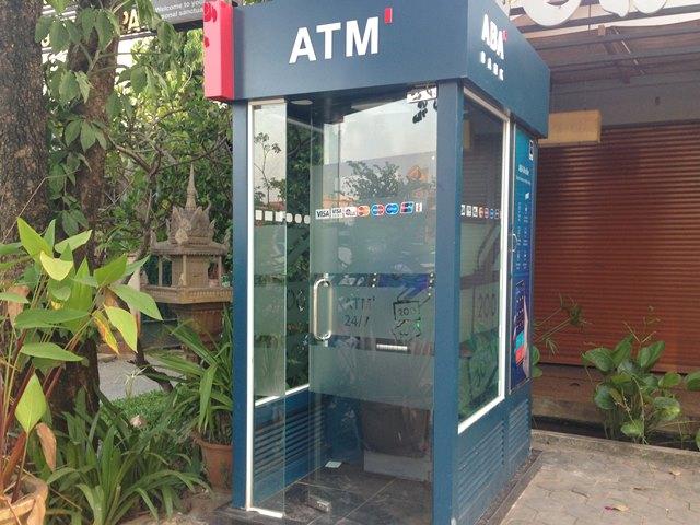 シェムリアップに多いABA銀行のATM