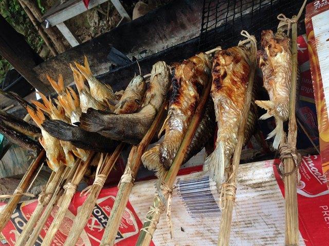 西バライの焼き魚や焼き鳥