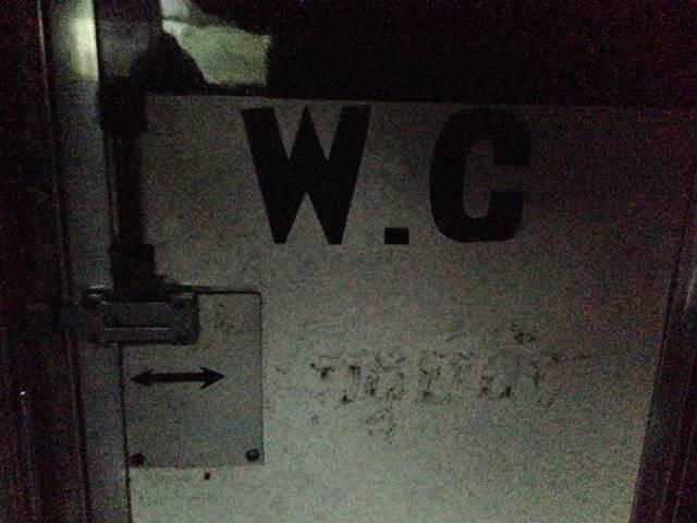 シェムリアップ行きバスの中にあったトイレ