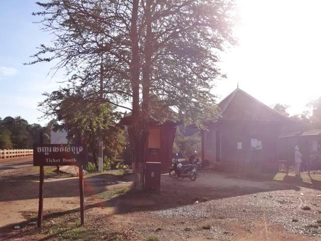 サンボープレイクック遺跡のチケット売り場