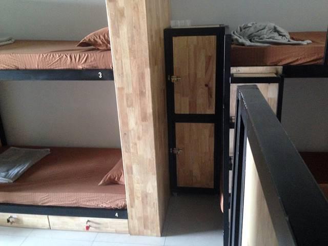 クール・ロング・バックパッカーズ・ホステルのドミトリーのベッド