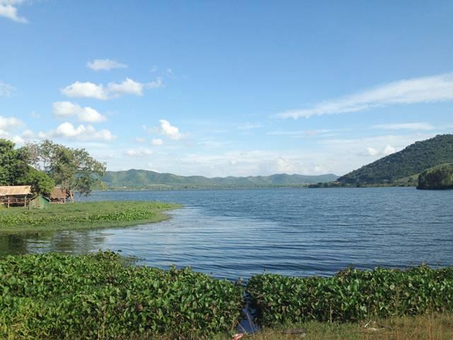 カンポット郊外にあった湖