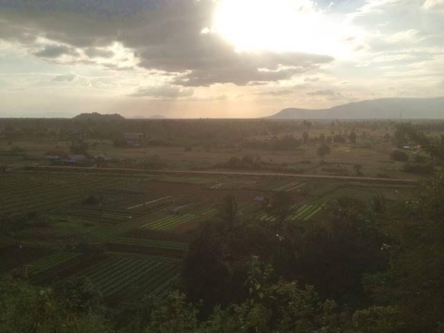 プノン・チュヌークからの田園風景