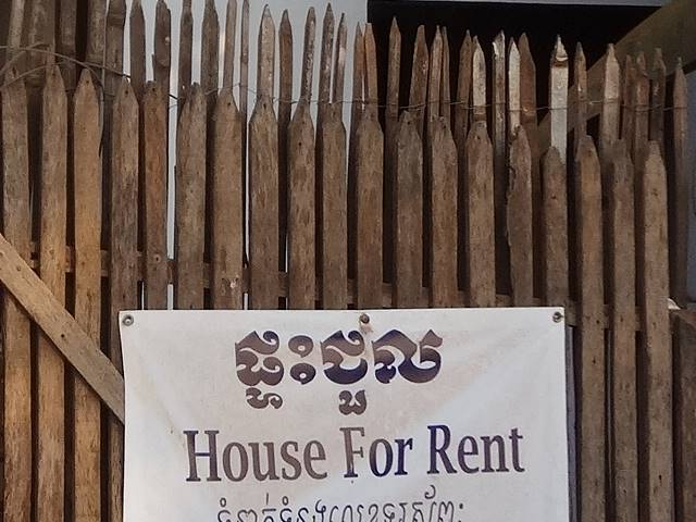 House for Rentの貼り紙