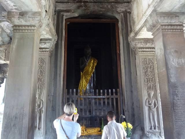 アンコールワット第三回廊の仏像