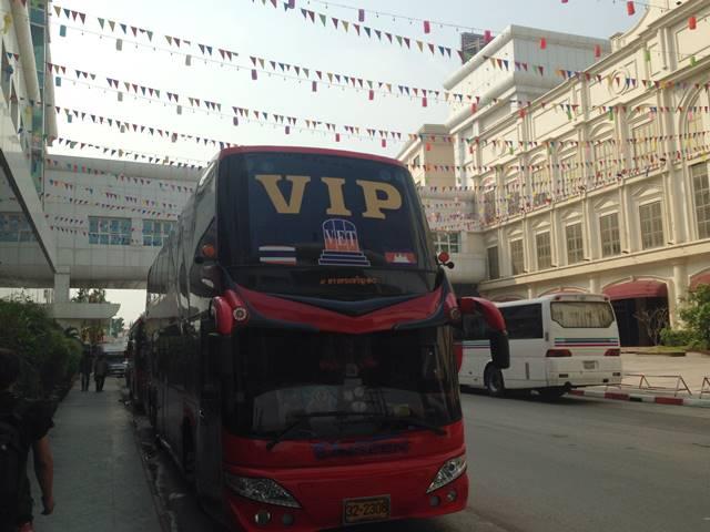 バンコク行きのバス・ビラックブンタン
