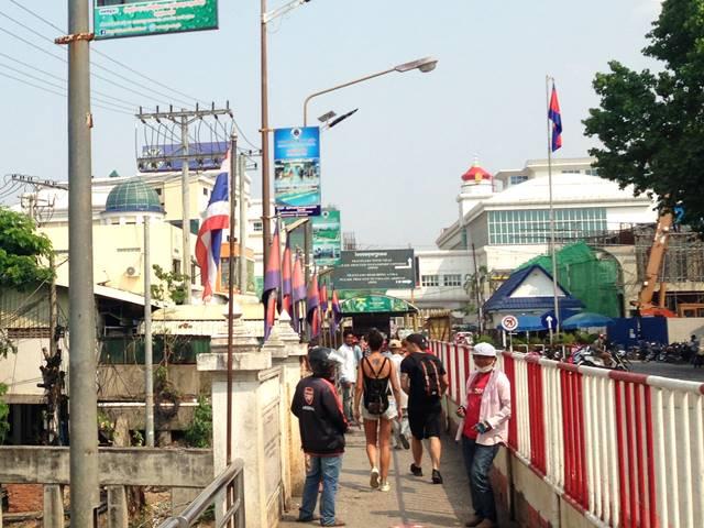 タイとカンボジアの国境の境目