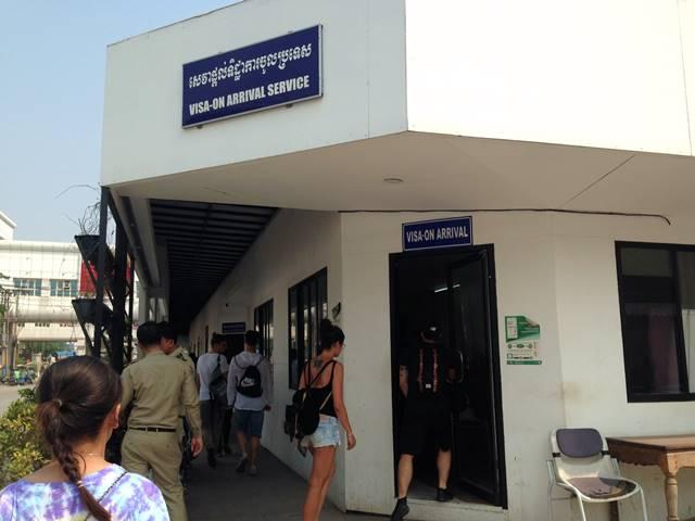 カンボジアのアライバルビザ申請所