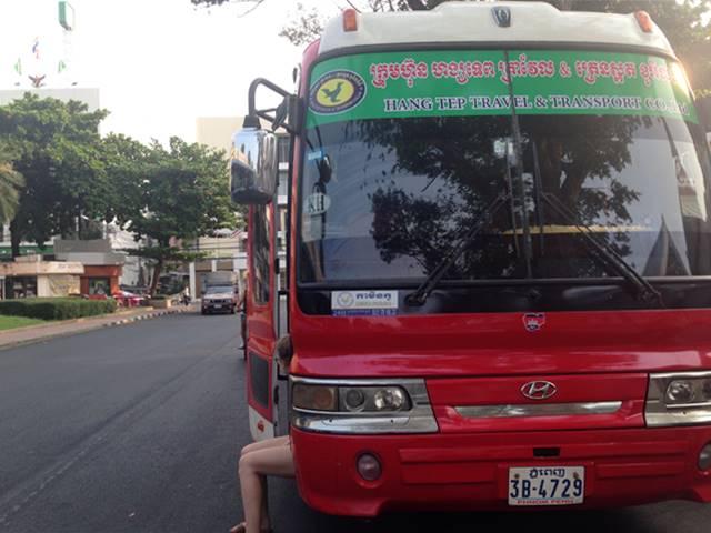 Hang Tepのシェムリアップ行きのバス