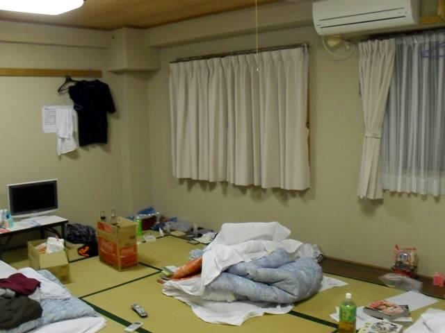 ホテルのリゾートバイト時の寮の部屋