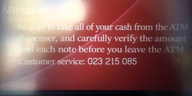 ATMの使い方「注意事項」