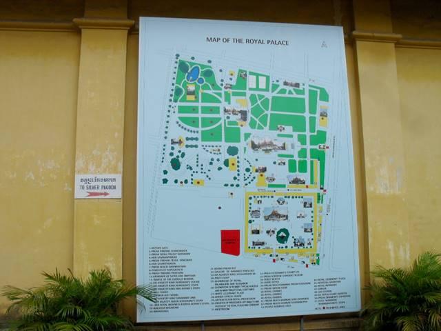 王宮とシルバーパゴダの地図
