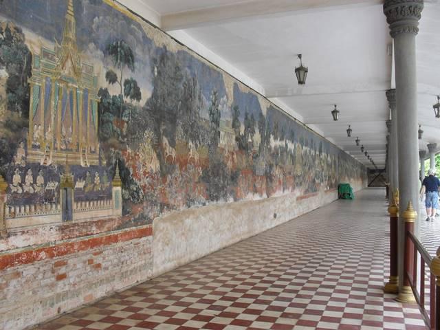 シルバーパゴダのラーマーヤナの壁画