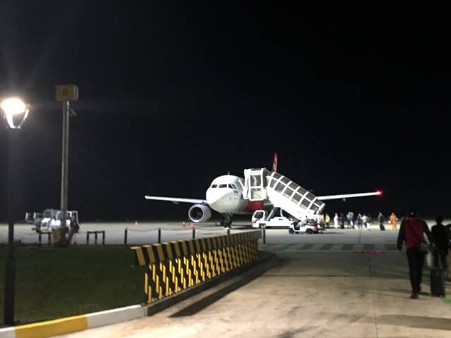 利用したエアアジアの乗り継ぎ便