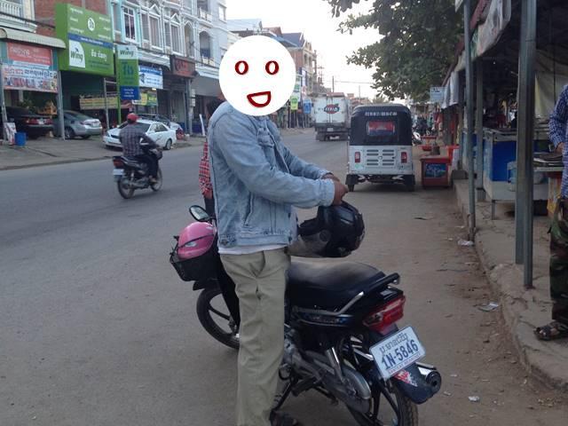 シソポンのバイクタクシー