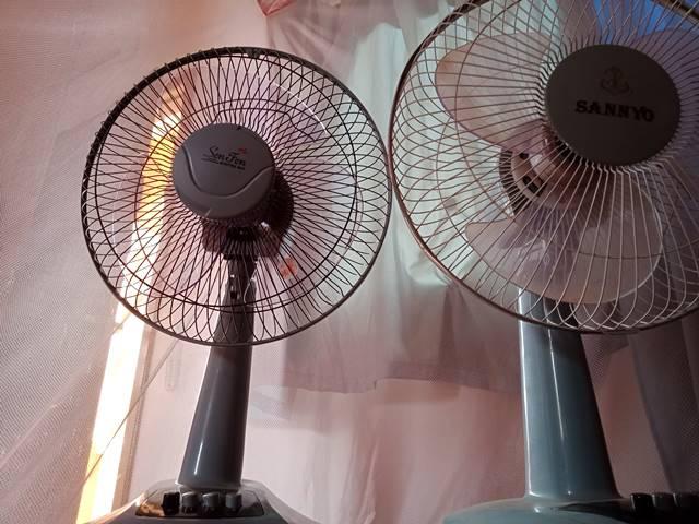 カンボジアで購入した扇風機