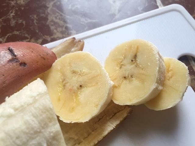 赤バナナの味②