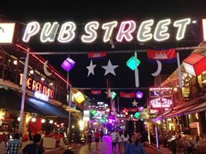 シェムリアップ随一の繁華街「パブストリート」